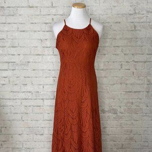 Maurices | Burnt Orange Lace High Low Dress